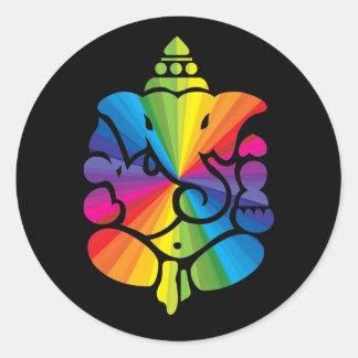Ganesha Rainbow Sign Stickers