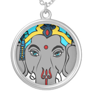 ganesha remover of obstacles round pendant necklace