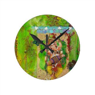 Ganesha Round Clock
