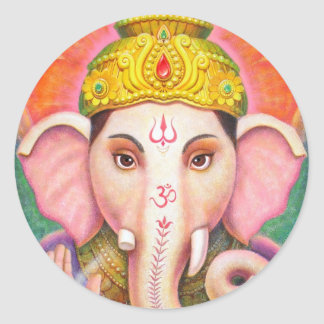 Ganesha s Blessings Round Stickers