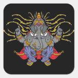 Ganesha Square Sticker