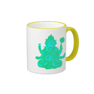 Ganesha Stamp Ringer Mug