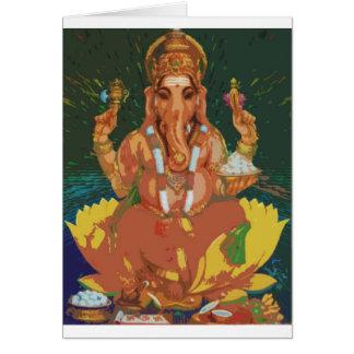 Ganesha Tarjeta De Felicitación