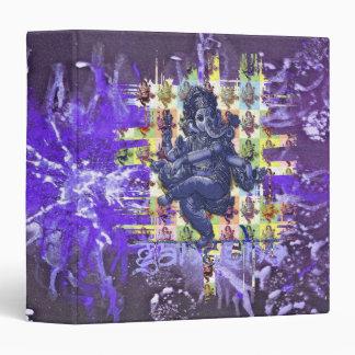 GANESHA   violet paint splatter Binders
