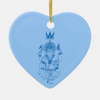 ganeshiya (blue) ceramic ornament