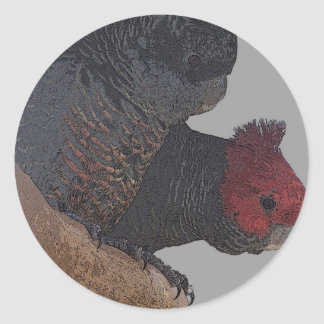 Gang gang cockatoo classic round sticker