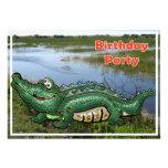 Gang Green Gator in the Glades Birthday Invitation