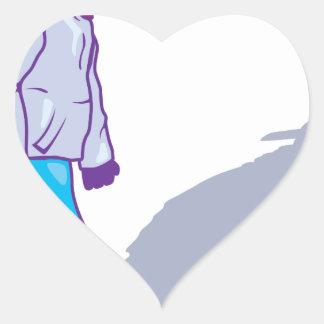 Gang member heart sticker