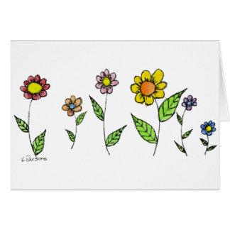 Gang-o-Flowers Greeting Card