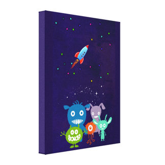 Gang Of Cute Creatures Canvas Print
