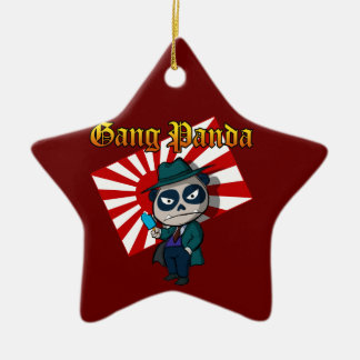 Gang Panda Ceramic Ornament