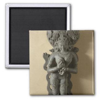 Ganga, diosa que personifica el río sagrado GA Imán Cuadrado