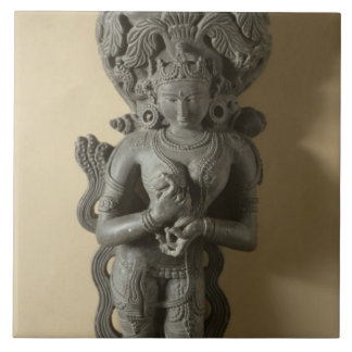 Ganga, goddess who personifies the sacred River Ga Ceramic Tile