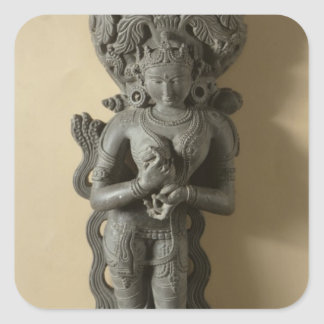 Ganga, goddess who personifies the sacred River Ga Square Sticker