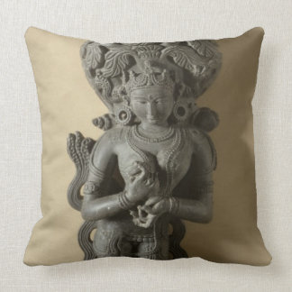 Ganga, goddess who personifies the sacred River Ga Throw Pillow