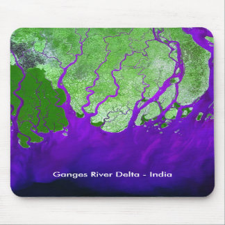Ganges River Delta Satellite Image - India Mousepad