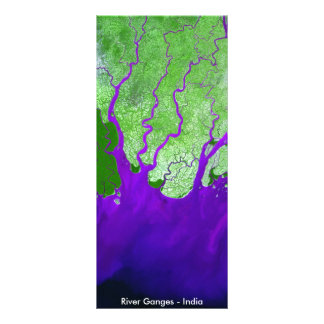Ganges River Delta Satellite Image - India Rack Card Template