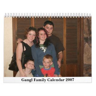 Gangl Family Calendar 2007