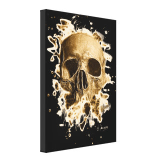 Gangs Skull - brownish Canvas Print
