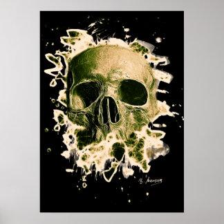 Gangs Skull - greenish Poster