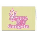 Gangsta - arma rosado del gángster tarjeta de felicitación