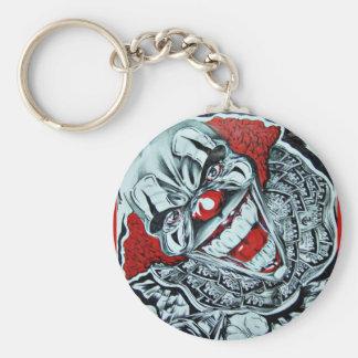 Gangsta Basic Round Button Keychain