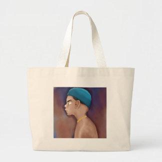 Gangsta boy large tote bag