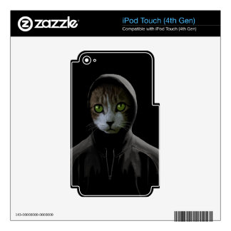 Gangsta cat skin for iPod touch 4G