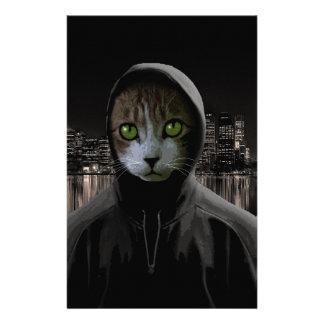 Gangsta cat stationery