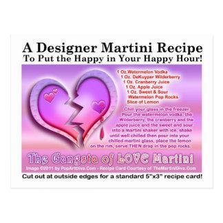 Gangsta de la tarjeta de la receta de Martini del  Postales