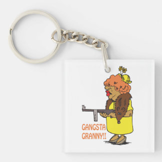 Gangsta Granny Keychain