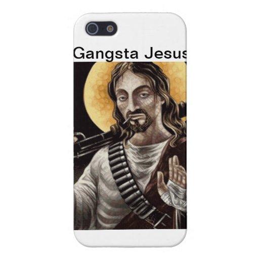 Gangsta Jesús iPhone 5 Fundas
