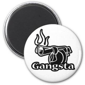 Gangsta 2 Inch Round Magnet