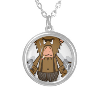 Gangsta Monkey Silver Plated Necklace