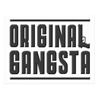 Gangsta original tarjeta postal