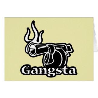 Gangsta - pistola del arma del revólver del tarjeta de felicitación