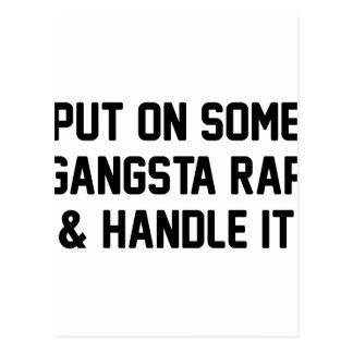 Gangsta Rap & Handle It Postcard