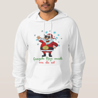 gangsta rap made me do it funny hoodie design