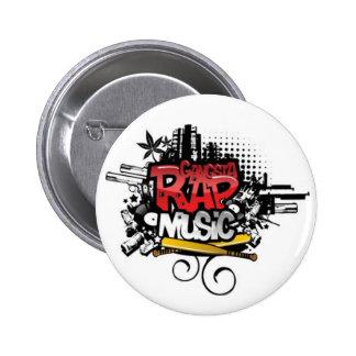 GANGSTA RAP MUSIC - button Anstecker pin button