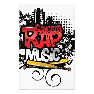 Gangsta Rap Music Stationery