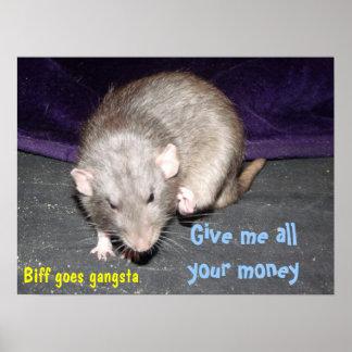 gangsta rat poster