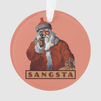Gangsta Santa custom ornament