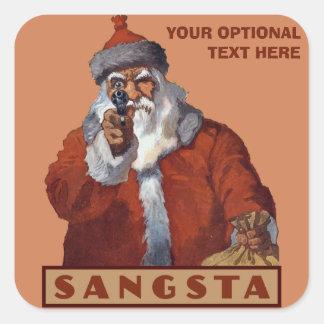 Gangsta Santa custom stickers