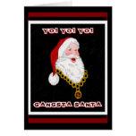 Gangsta Santa Greeting Card