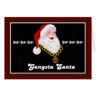 Gangsta Santa Note Card