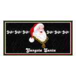 Gangsta Santa Photo Card