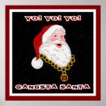 Gangsta Santa Poster