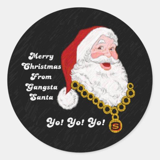 Gangsta Santa Sticker