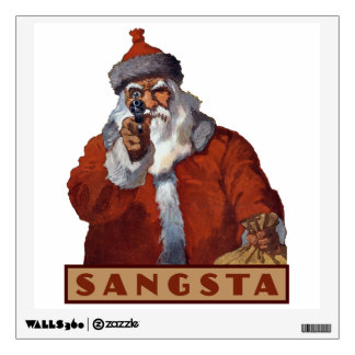 Gangsta Santa wall decals