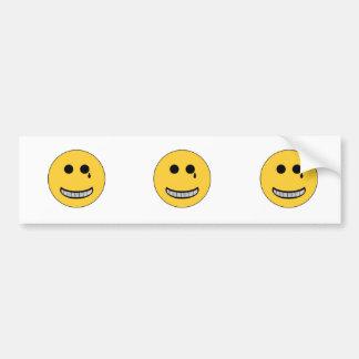 Gangsta Smiley Bumper Sticker
